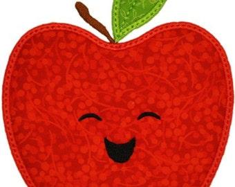 Happy Fruit APPLE Applique