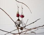 Ruby Gypsy Silver Earrings