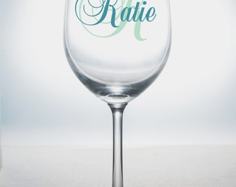 DIY Personalized Monogram and Name Wine Glass Kit for10 Glasses Wedding Party * Bride * Bridal Party * Rehearsal Dinner * Easy Project Save