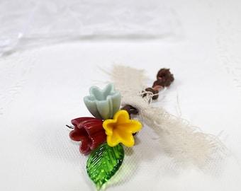 Rustic buttonhole, Corsage lapel pin, Rustic boutonniere