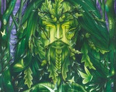 Green Man - Spirit of the Forest Print - The Green Man - Spring - Leaf Man - Sharman
