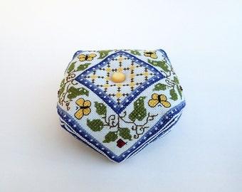 Midsummer Night's Biscornu Pattern -Cross Stitch  includes pattern 'Oberon'