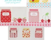 Jam Jars and Fruit,  a Paper Piecing Pattern