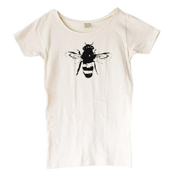 Bee Shirt - Womens - Honey Bee - Bamboo - Organic Cotton - Small, Medium, Large, XL- Clothing