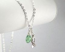 Light Green Awareness Necklace
