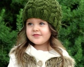 Knitting PATTERN-The Woodland Cable Hat (Baby,Toddler,Child, Adult sizes)