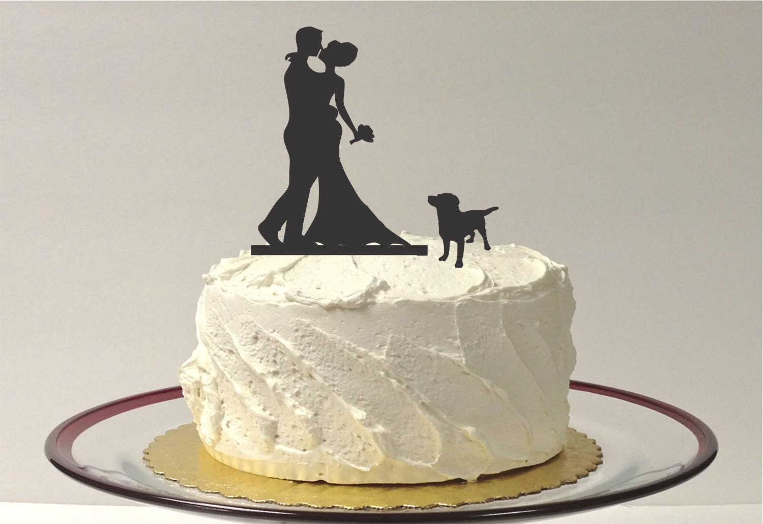 dog wedding cake topper made in usa with wedding cake topper silhouette wedding 13686