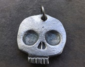 Hand forged skull keychain