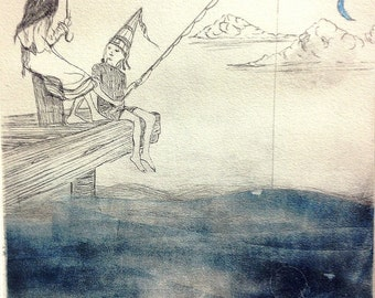 A Good Story - Original Hand Pulled Etching