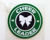 Green Cheer Bow Bag Tag Cheerleading Bag Tag Cheerleader Gift Cheer Spirit Gift Cheer Bow Bag Tag Cheer Squad Gift Cheer Mom Gift Cheertagz
