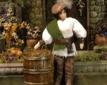 Dashing Flarian 1:24 Medieval Yeoman Dollhouse Doll