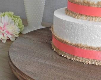 "16"" Wedding Cake Stand Dark Rustic Country Wooden Barn Rustic Wedding Decor E. Isabella Designs. As Featured In Martha Stewart Weddings"
