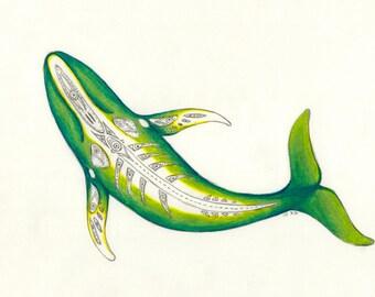 Perceiving Aġviq.....Alaska Native Drawing....3 size options
