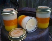 8 oz Candy Corn Jar Candles - Candy Corn Scented - Sold in lots of (6) per Order  Fall - Only 45.99