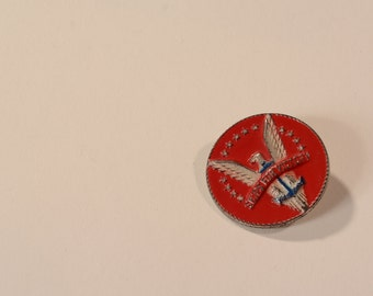 Vintage Ships For Victory Brooch - WWII Patriot Pin - 1940s Fashions