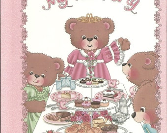 Your Little Girls Personalized Gift My Tea Party Book Ships PRIORITY MAIL in 24 hours also available in Spanish