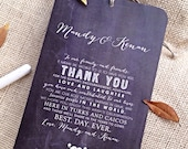 RESERVED for Tracy - Chalkboard Style Wedding Welcome / Itinerary Tag for Wedding Welcome Bags - Vintage Style - 4.5 x 7  - Set of 9