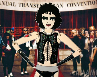 Dr Frank n Furter The Rocky horror picture show Tim Curry Assembled articulated paper doll