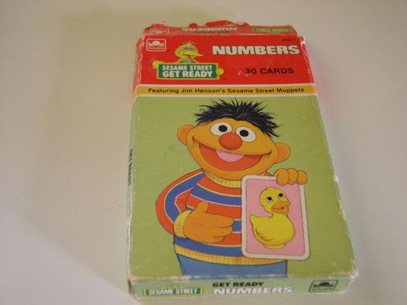 Vintage Sesame Street Number Cards