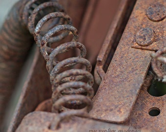 Industrial photography-abstract fine art-rustic-print-industrial art- rusty-coil - Original fine art photography prints - FREE Shipping