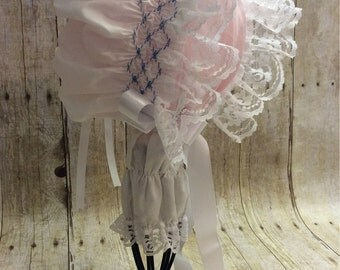 Smocking sun bonnet for baby girl