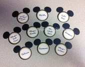 Personalized Mickey Mouse Candy Label - Set of 12 - Customized with your party Candy names