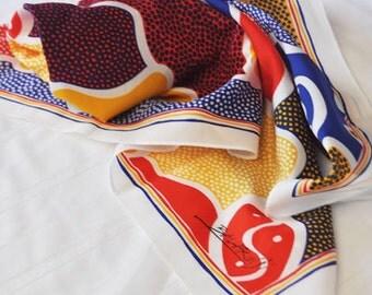 Retro Balarinji Scarf with Indigenous Print design