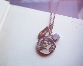 Victorian ballerina necklace