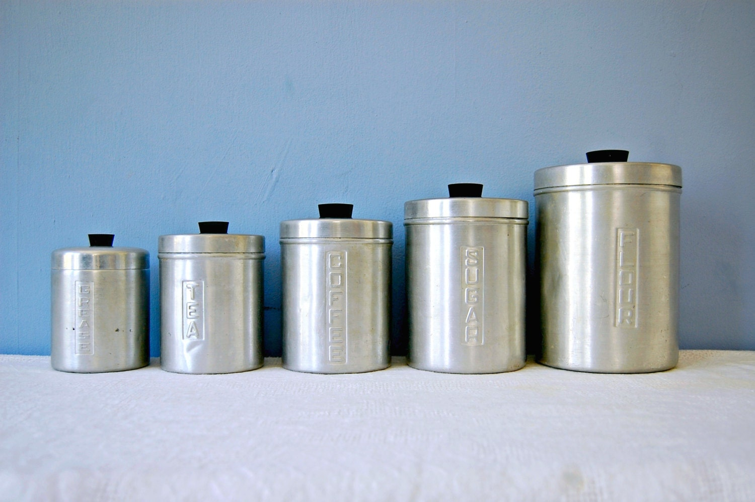 1950s kitchen canister set flour sugar coffee tea grease jar kitchen canister decals flour sugar decals canister vinyl