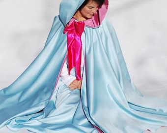 Fairy Godmother Costume Set, Cape and Skirt, Sky Blue