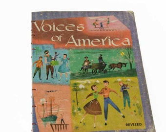1960 VOICES OF AMERICA Vintage Notebook Journal