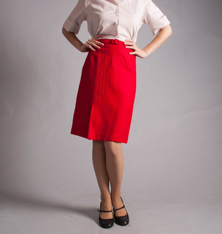 sale vintage 1950s pencil skirt 50s wool by concettascloset