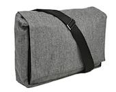 Große Tasche - Messenger Bag mit verstellbaren Trägern - Dundee Vegan Messenger Tweed grau