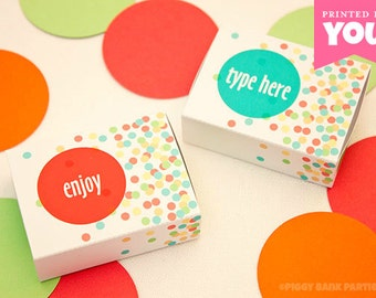 Confetti MATCHBOX Favor Box (Small): DIY Printable Wedding Favor PDF // Birthday Favor // New Year's Eve Favor // Gift - Instant Download