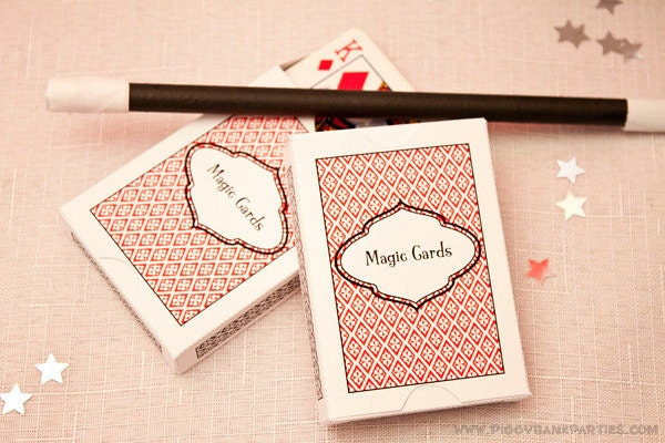 playing cards favor box   diy printable deck of cards box pdf