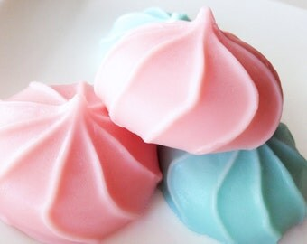 Soap, Cotton Candy Meringue Soaps, Buttermilk Glycerin Soap, Gift Set of 2 Cotton Candy Soaps