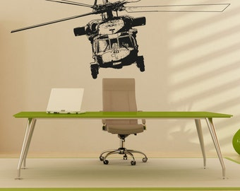 Vinyl Wall Decal Sticker Front of Helicopter 5055s
