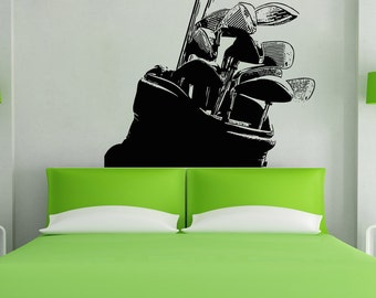 Vinyl Wall Decal Sticker Golf Clubs 5103s