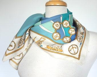 Vintage Emilio Pucci Scarf // 1960s Pucci Silk Scarf // Roma Print Designer Scarf // DIVINE