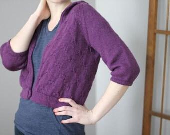 Julep Jacket Sweater Knitting Pattern by Katie Canavan