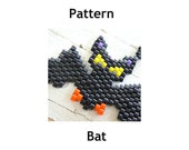 Bat Peyote Stitch PATTERN, Halloween Jewelry DIY Craft, Seed Beads