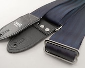 Navy Recycled Seat Belt Guitar Strap - Vegan Eco Friendly Guitar Strap