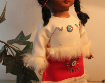 Indian Doll -  Vintage Doll - Made in Hong Kong-