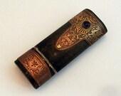 HERALDIC fantasy steampunk USB drive with amethyst, 16 GB