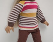 BROWN CORDUROY SKINNY Jeans 18 inch doll clothes