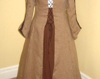 Medieval Linen Traveling Coat or Dress