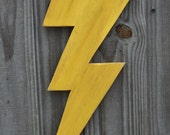 Thunder Storm Wall Decor, Wooden Lightning Bolt, Made To Order