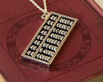 Working Abacus Necklace, Maths Gifts, Math Teacher Gift, Math Geek