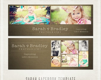 Sarah Facebook Timeline Templates - 2 covers and 1 tab image