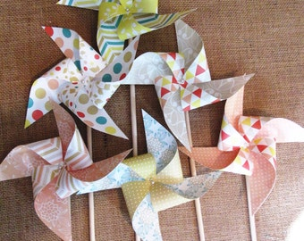 Paper Pinwheels 12 Wedding Twirling Pinwheels Birthday Party Favors or a Baby Shower Favors or a Bat Mitzvah Favors or Wedding Guest Gifts